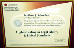 Svetlana Schreiber Esq. Immigration Attorney